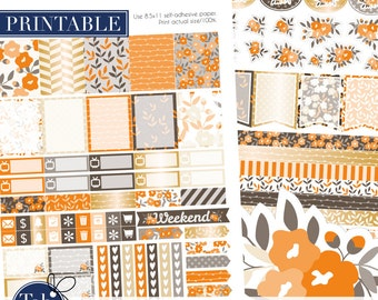 October printable planner stickers for use with Erin Condren LIFEPLANNER™