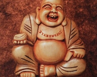 Laughing Buddha  - One 11.5 x 15.5 Giclee Print