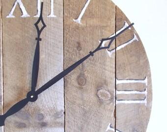 """30.5"""" Rustic Pine Clock"""