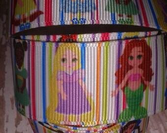 Stripe Princesses Grosgrain Ribbon