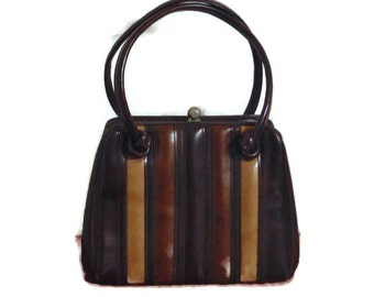 Vintage 70's multi-brown handbag