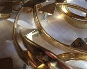Vintage Gold Drawer Pulls Set of 6 - Handle Cabinet Furniture Hardware Parts