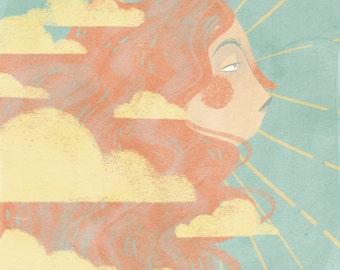 "Sun 6x5"" print"