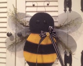 Primitive Sweet Annie Bee Door Greeter Hand Crafted and Painted