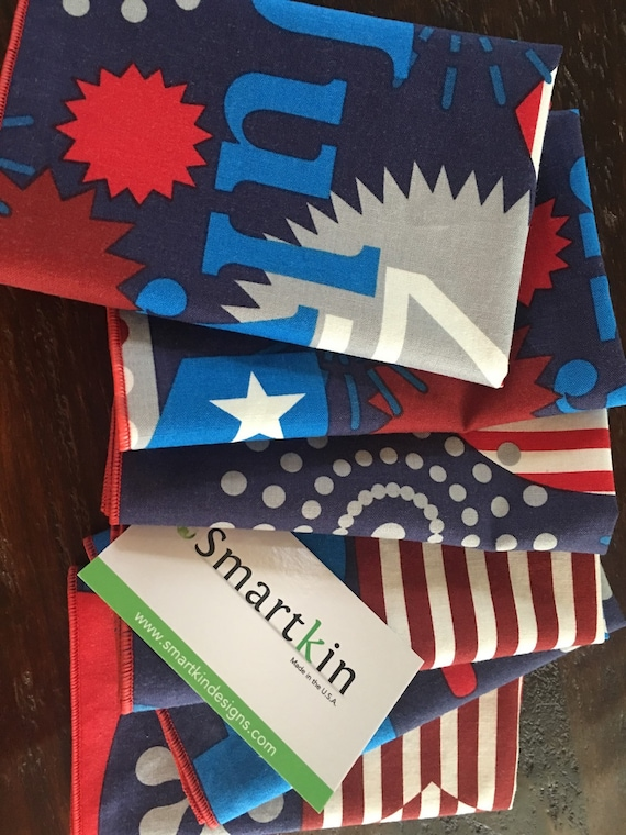 Sale! 4th of July Blue Napkin by Smartkin