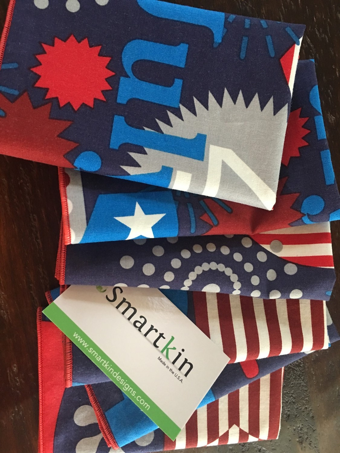 4th of july blue napkin 12x15 in size by smartkin for 12x15 calculator