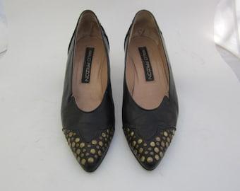 Maud Frizon Paris studded shoes size 9 1970s