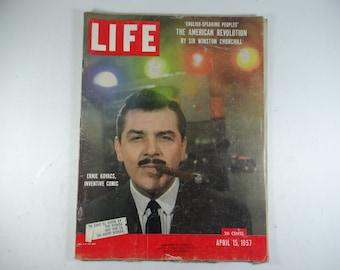 1957 Life Magazine, August 15,  Ernie Kovacs, Inventive Comic -Winston Churchill