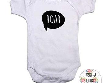 Roar 100% Cotton Baby Vest 0-3, 3-6, 6-9, 9-12, 12-18