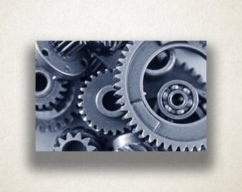 Industrial Gears Canvas Art, Industrial Wall Art, Gears Canvas Print, Close Up Wall Art, Photograph, Canvas Print, Home Art, Wall Art Canvas