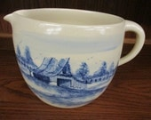 Large Paul Storie Pottery Cobalt Blue Country Pitcher Marshall, Texas