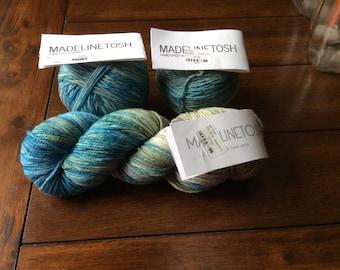 MADELINETOSH Hand Dyed Yarns / Bluebonnet Highway/ DK Twist/ 3 skeins