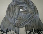 Long Scarf Cotton Scarf Indian Scarf Olive Green Striped Scarf Unisex Scarf