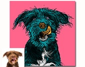 Custom pet portrait - from your photos - any colors - digital