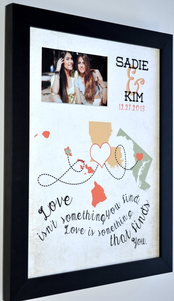 Wedding Gift Framed Art : Unique wedding gift for couple framed art print or by Picmats