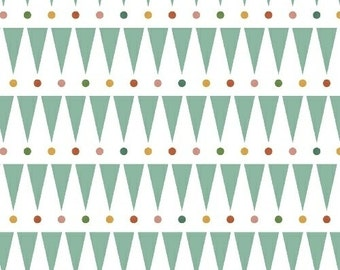 SALE Party Stripes by Petit Collage for Windham Fabrics Organic Cotton Party Animals Collection Triangle Fabric Bunting Polka Dots