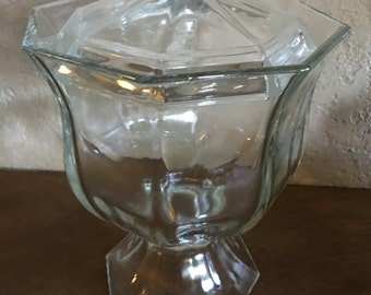 Vintage octagon candy dish
