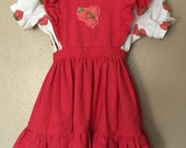 One of a kind, vintage Strawberry Shortcake handmade costume