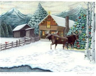 Holiday Hangup Holiday or Christmas Card