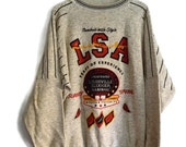 Vintage 90s Louisville Slugger Baseball Sweatshirt XL Gray Cooper Collections Heavy Cotton 1992 Hardball Awesome Retro American Baseball