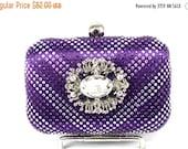 SALE 30% OFF Crystal Bridal Clutch, Purple Crystal Bridal Clutch, Purple Wedding Purse, Purple Statement Evening Clutch