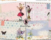 75% OFF SALE POLKA Dots Fairies Digital Collage SHeet  Digital Tags Digital Cards Digital Collage Fairy Instant Download