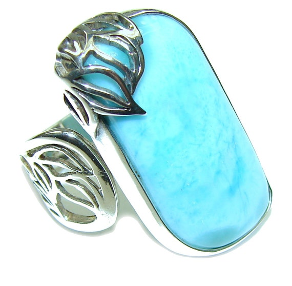 larimar sterling silver ring weight 10 50g size 6 3 4
