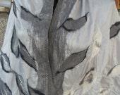 felted woman scarf, woman cape, nunofelted wrap, shawl, large shawl, wool cape, capelet, handmade shawl,
