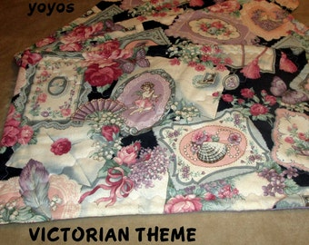 LILAC VALENTINE PLACEMATS Fabric Home Holiday Table Décor Gift Item