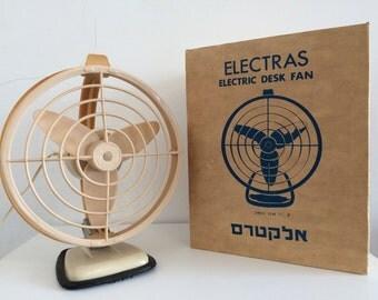 Retro desk fan/ vintage fan original box