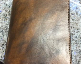 Custom Leather Hand-tooled Bible Cover