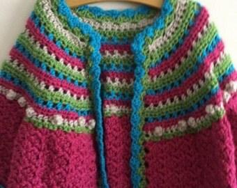 Little girls long sleeve sweater size 3/4