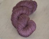 Light as a Feather Fingering Weight - Eggplant - Suzy Parker Yarns - Superwash Merino/Silk/Yak 100g 366meters/400 yards