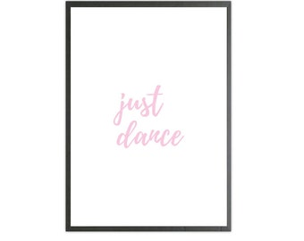 just dance pink art print