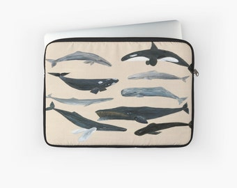 Whale Laptop Sleeve, whale case, computer case, whale laptop case, laptop pouch, whales case, whale laptop sleeve, whale sleeve