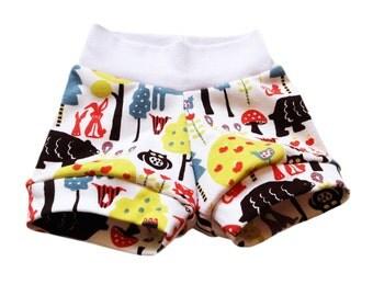 organic baby shorts, baby shorts, toddler shorts, organic, summer baby, swedish, forest, girls shorts, boys shorts, organic baby