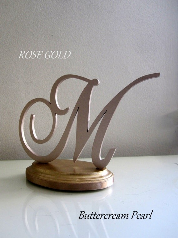 rose gold monogram wedding cake topper gold wedding cake topper custom any by buttercreampearl 19280