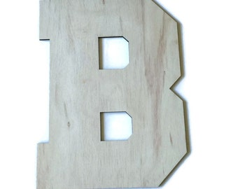 """Wood letters, Unfinished wood letters, large wooden letters, 24"""" tall, 2 feet tall, Wedding guest book alternative, dorm room , birch wood"""