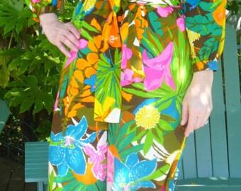 Vintage Hawaiian Jumpsuit, Size Medium