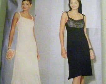 """SALE 1990s Wedding Gown Evening Bridesmaid Prom Dress sewing pattern Butterick 6392 Donna Ricco   Size 6-8-10 Bust 30.5-31.5-32.5"""" UNCUT FF"""