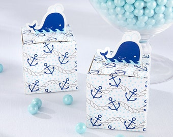 Nautical Whale Favor Box (Set of 24)