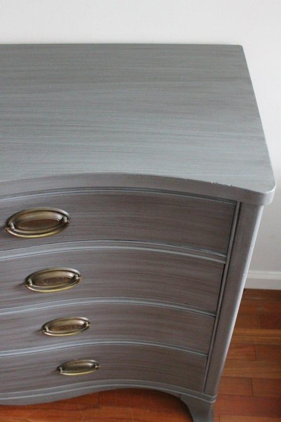 DREXEL Grey Dresser/long dresser/Changing Table/media console