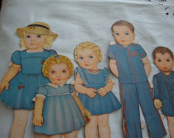 The Children...Vintage paper dolls