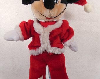 "Vintage-Walt Disney World -Mickey Mouse-Dressed As Santa Claus-14"" Tall"