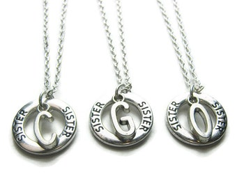 3 Sisters Initial Necklaces