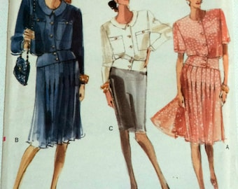 Vogue 7277 Top Skirt Sewing Pattern Three Lengths Misses' Size 12 14 16 Bust 34 36 38 UNCUT
