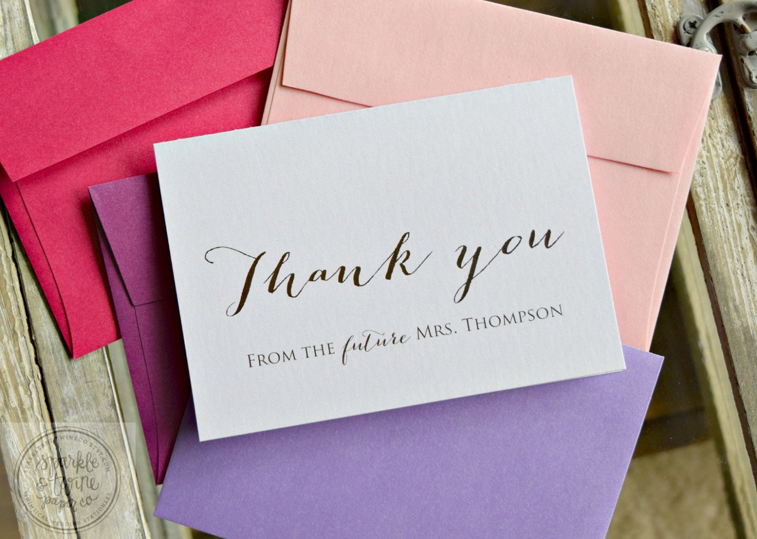 Wedding Shower Thank You Gifts: Bridal Shower Thank You Cards Future Mrs. By SparkleandTwineCo
