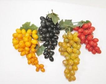 Rubber Grapes Grape Cluster Vintage Artificial Fruit