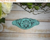 SALE Teal Pull / Knobs / Farnhouse Rustic / Southwestern / Drawer Pulls / Handle / Cabinet Puls / Distressed