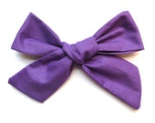 Big Hair Bows/One Size Fits All/Valentine's Day Bows/Purple Bows/Little Girl's Bows